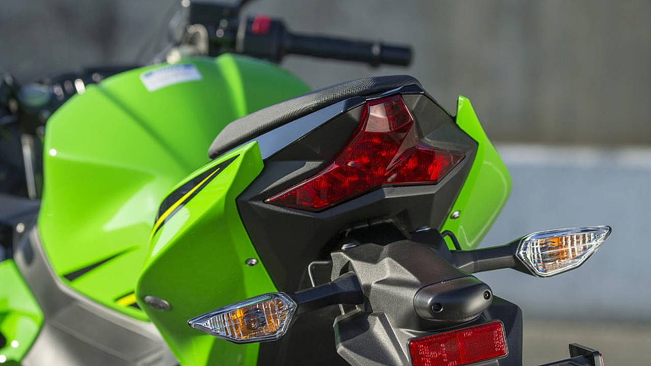 We appreciate Kawasaki's attention to detail in the styling department, including this H2 inspired tail lamp.