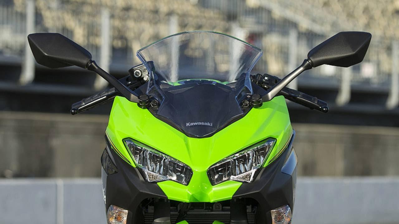 The 2018 Kawasaki Ninja 400 gets LED lighting front and back— impressive for an $5000 motorcycle.